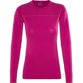 Haglöfs Actives Wool Roundneck Shirt Women Volcanic Pink